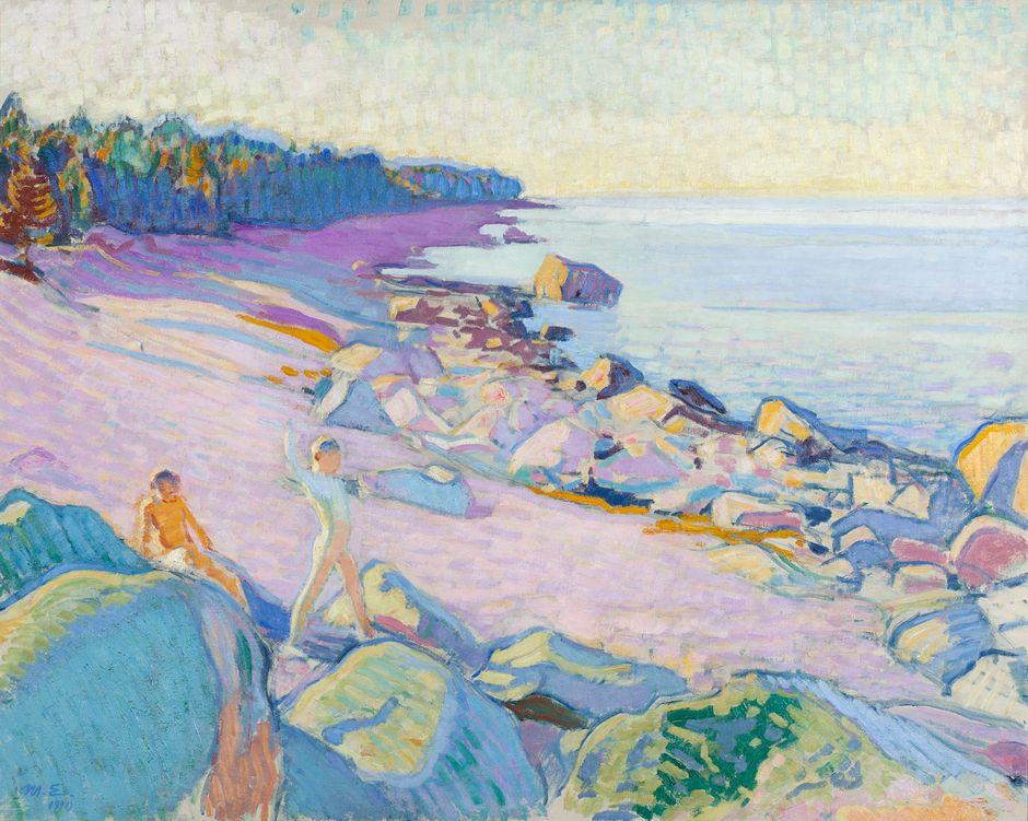 Magnus Enckell: Poikia rannalla