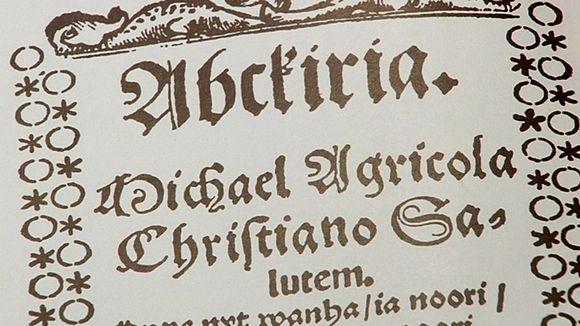 Kuva Mikael Agricolan Abckiriasta.