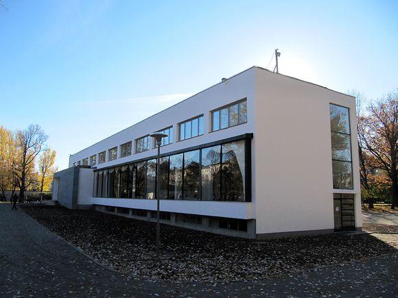 Viipurin Alvar Aalto -kirjaston julkisivu.