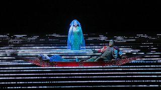 Tamara Mumford as the Pilgrim, Eric Owens as Jaufré Rudel and Susanna Phillips as Clémence