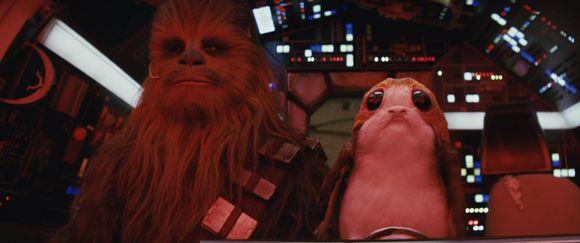 Kohtaus Star Wars: The Last Jedi -elokuvasta.