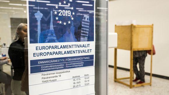 Eurovaalien ennakkoäänestyspaikka.