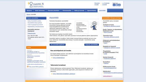 Kansalaisen asiointitilin voi perustaa sen verkkosivuilla.
