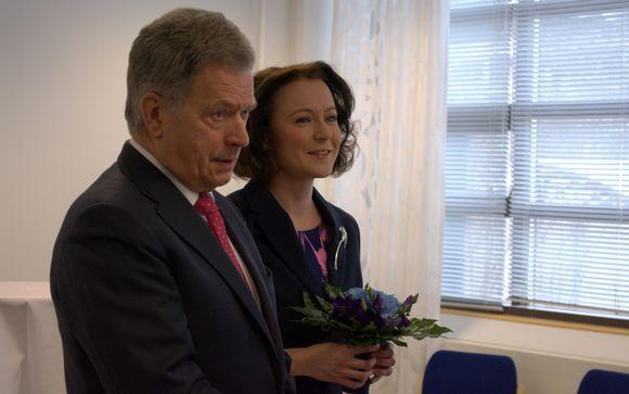 Sauli Niinistö ja Jenni Haukio.