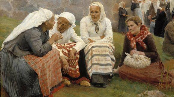 Albert Edelfelt, Ruokolahden eukkoja kirkonmäellä (1887)