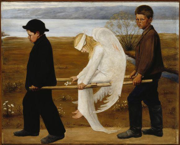 Hugo Simberg Haavoittunut enkeli (1903)