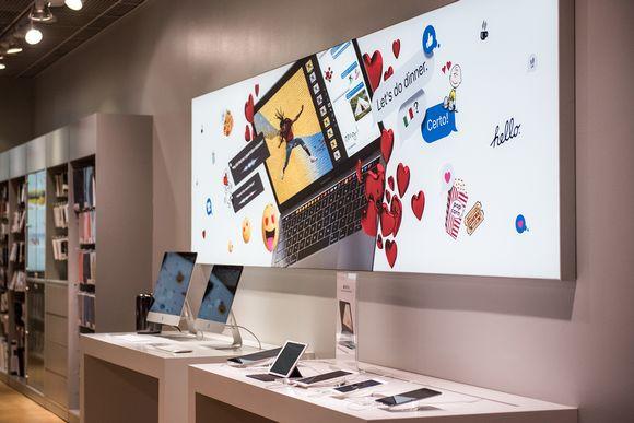 Kauppa joka myy Applen tuotteita.