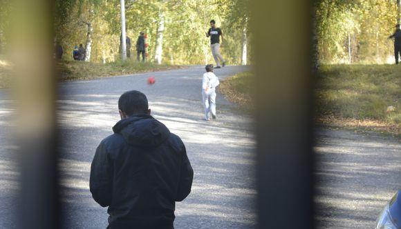 Turvapaikanhakijoita Lahdessa.