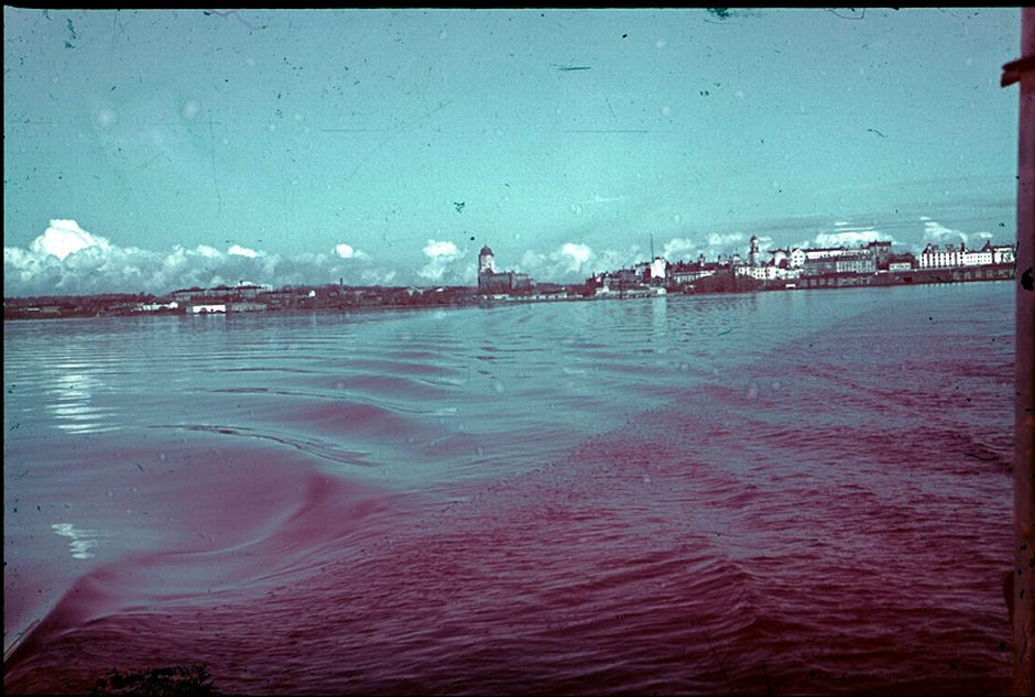 Viipuri kuvattuna mereltä vuonna 1942