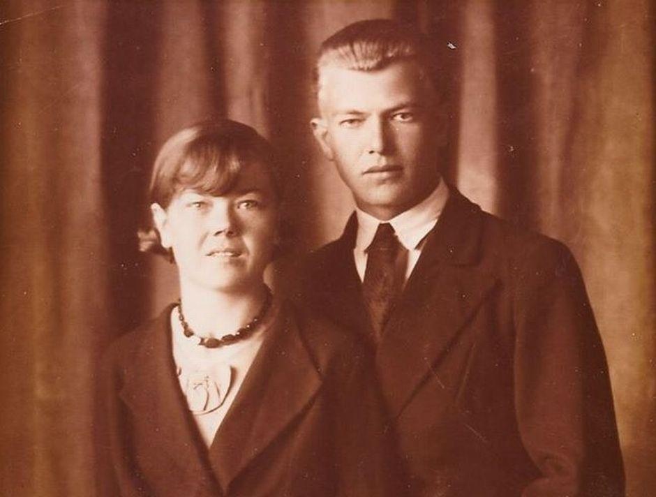 Uuno rinne ja hänen vaimonsa Saimi Piensalmi