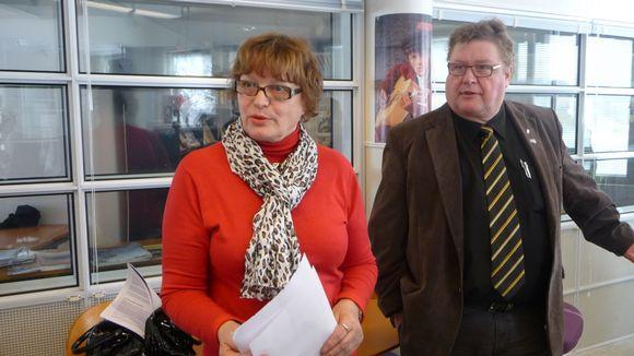 Perussuomalaisten ehdokkaat Etelä-Karjalan Radion vaalitentissä olivat Marja-Leena Leppänen ja Erkki Saarimäki.