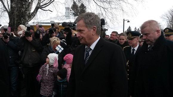 Tasavallan presidentti Sauli Niinistö vieraili Lappeenrannassa muun muassa Suomen vanhimmassa ortodoksisessa kirkossa.