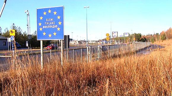 Venäjän ja EU:n raja Imatralla.