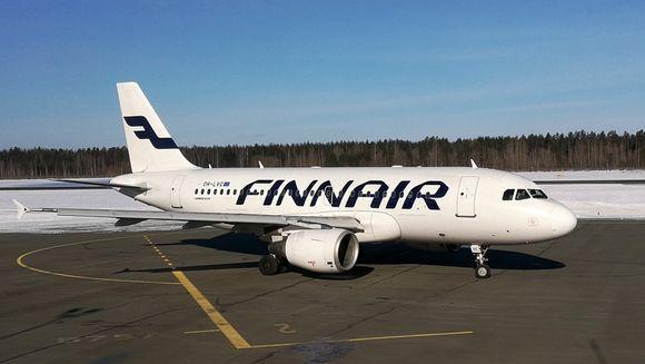 Finnair Airbus A319 Lappeenranta talvi