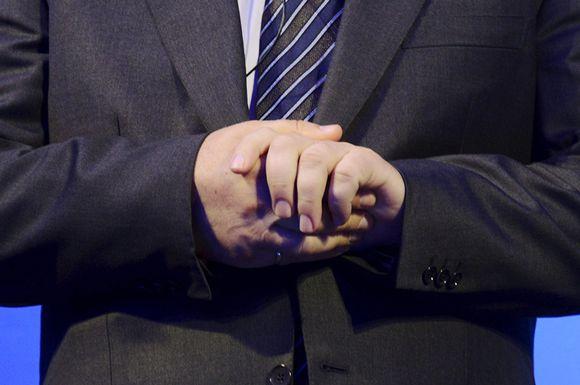 Nokian entinen toimitusjohtaja Stephen Elop puhui yhtiön tiedotustilaisuudessa Espoossa 3. syyskuuta.