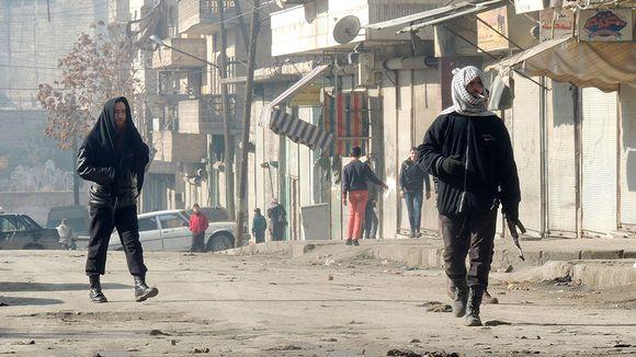 Kapinallistaistelijoita Aleppon kaupungissa 7. tammikuuta