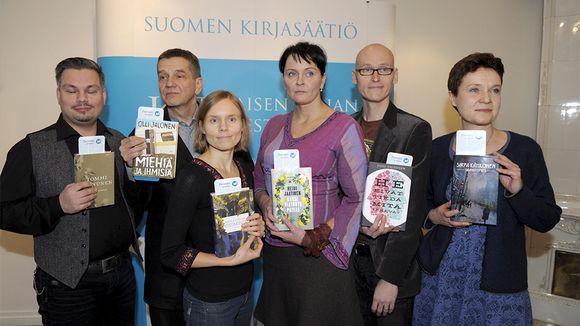 Tommi Kinnunen (vas), Olli Jalonen, Anni Kytömäki, Heidi Jaatinen, Jussi Valtonen ja Sirpa Kähkönen.