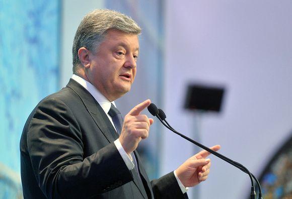 Ukrainan presidentti Petro Poroshenko kuvattuna Kiovassa 11. syyskuuta 2015.