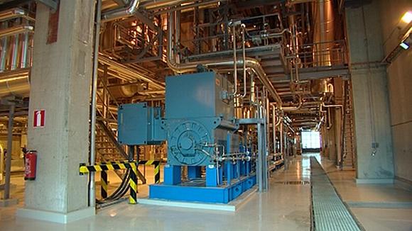 Sisänäkymä biovoimalasta