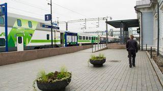 Juna Mikkelin asemalla