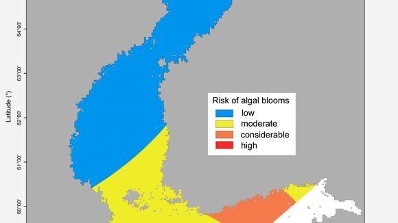 Risk of algal blooms summer 2018