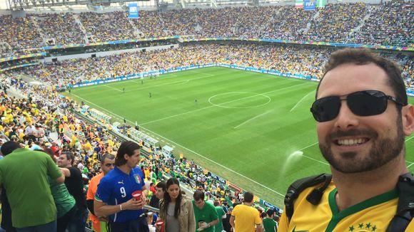 Brazil fan Daniel Pryjma