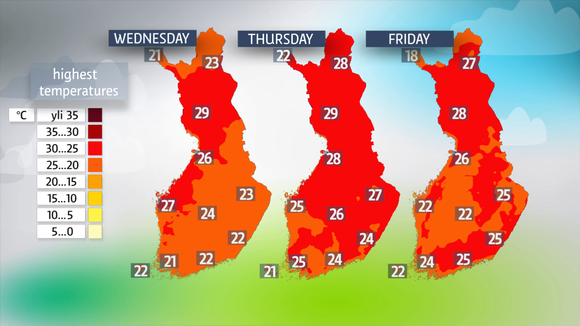 Hot weather for the rest of the week
