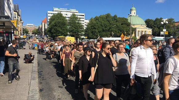 Turku without Nazis supporters chant