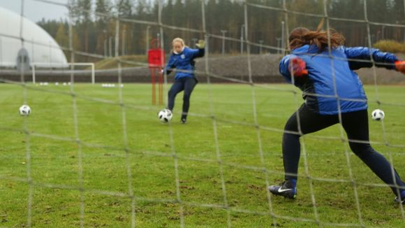 Goalkeeper practice