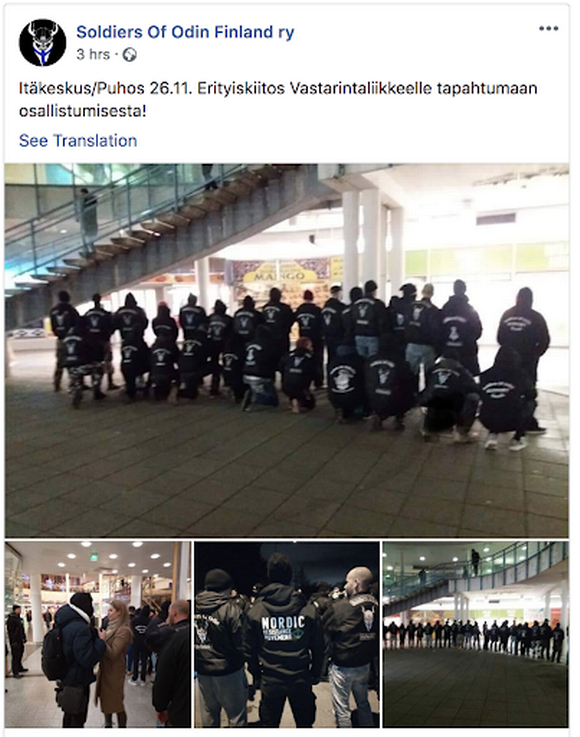Soldiers of Odin Facebook page
