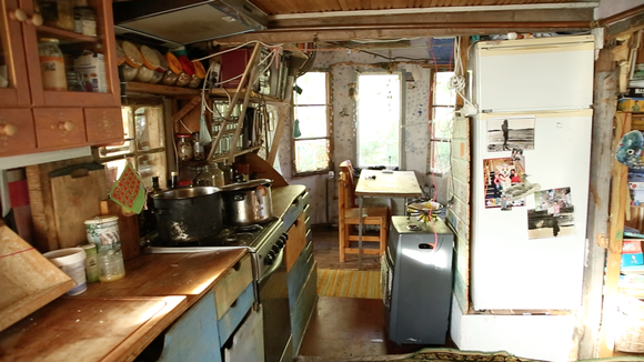 A tiny house kitchen in Finland