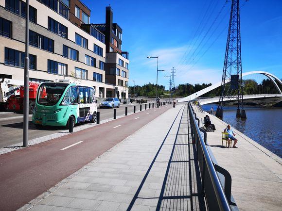 Helsinki RobobusLine in the Kalasatama neighbourhood.