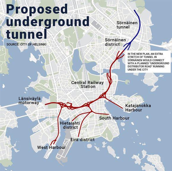 Proposed underground tunnel