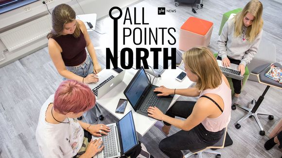 All Points North podcast logo