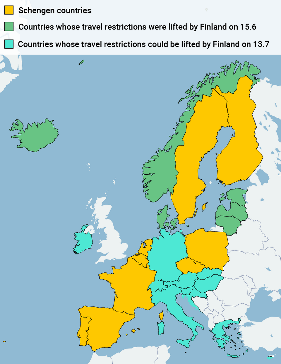 Finland To Loosen Travel Restrictions Based On Infection Ratios Yle Uutiset Yle Fi