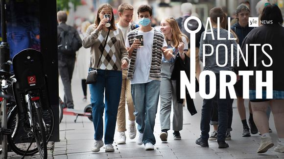 Cover photo of youths on city street, All Points North podcast