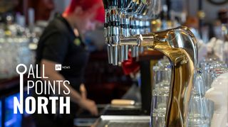 All Points North podcast logo featuring photo of a pub.