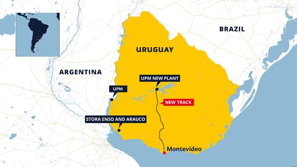Map of Uruguay.