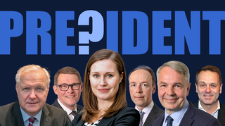 Six most popular candidates for next Finnish president.