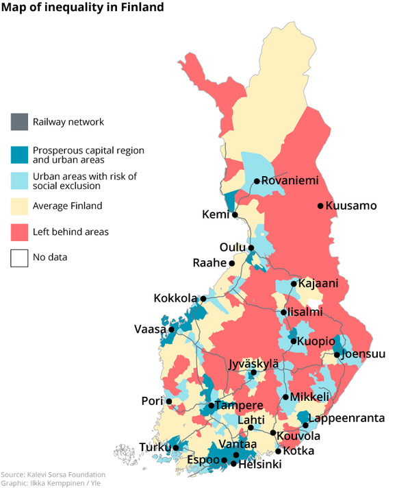 Map of inequality in Finland