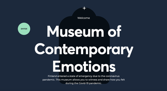 Screenshot from the opening page of the Museum of Contemporary Emotions virtual tour.