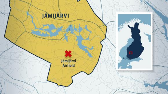 Map of Jämijärvi.