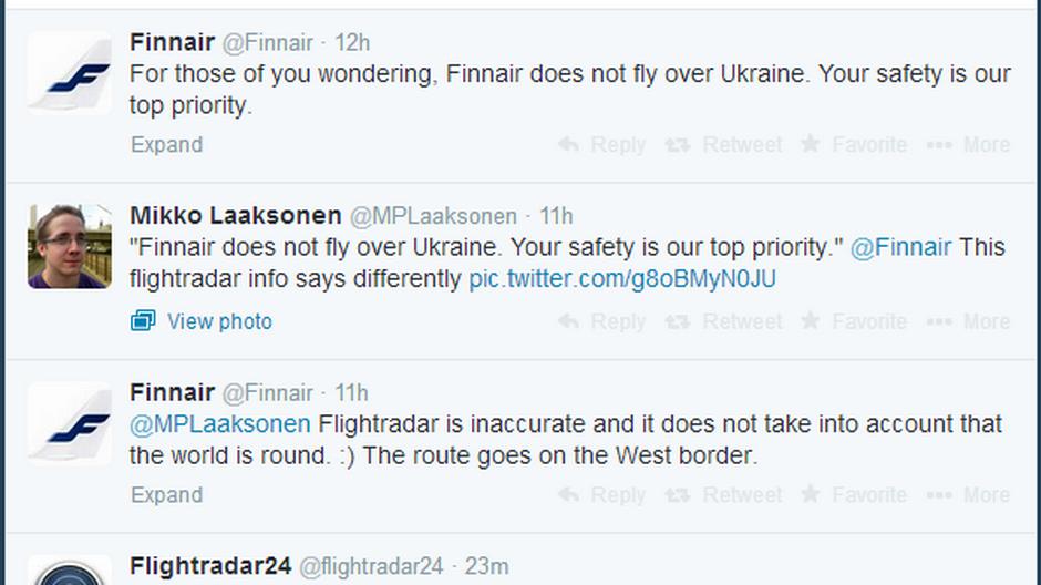 Finnair admits it flies over Ukraine after PR blunder | Yle