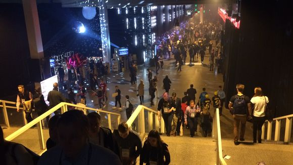 Video: The steps of the Helsinki Expo and Convention Centre, which lead down to Slush 2015.