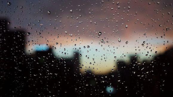 Raindrop on a window.