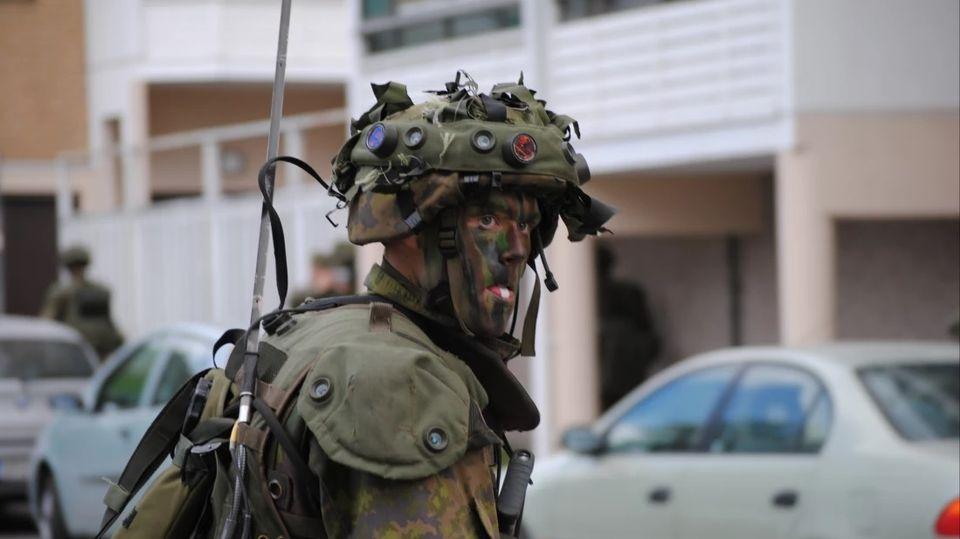 Finnish Military Conducting Urban Warfare Training