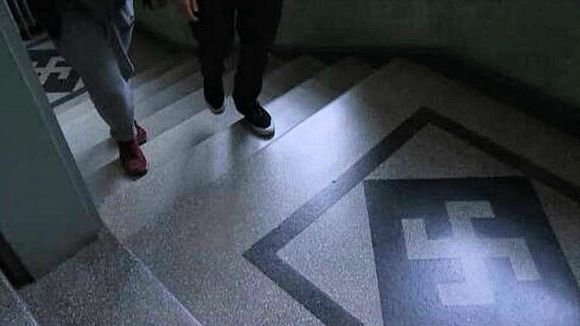 Swastikas were a common architectural motif, especially in the 1920's and 1930's.