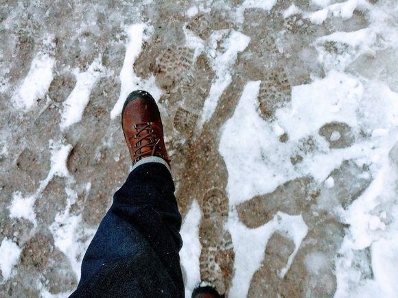 Snow, slush, boots, loska, kengät, talvi