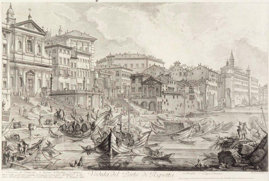 Пиранези, Джованни Баттиста (1720–1778). Порт Рипетта в Риме