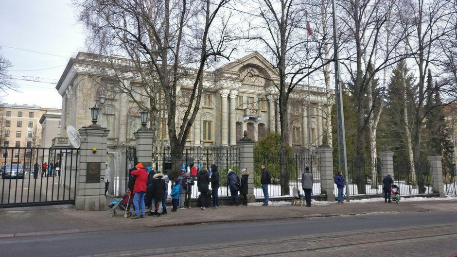 venajan suurlähetystö vaalipäivä